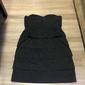 J. Crew Dresses - JCrew Poplin Brynn Tiered Dress In Black Size 10